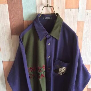 アートヴィンテージ(ART VINTAGE)の90s vintage 古着 CR デザインシャツ ウール レトロ柄 好配色(シャツ)