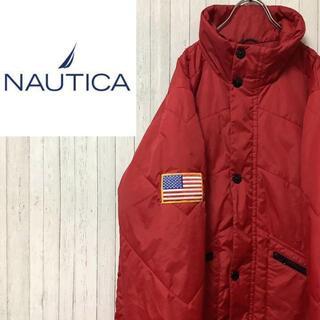 NAUTICA - ノーティカ ジップアップ 中綿 ナイロンジャケット 赤 USA 美品 M