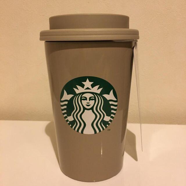Starbucks Coffee(スターバックスコーヒー)のスターバックス ステンレスTOGOカップタンブラーベージュ355ml インテリア/住まい/日用品のキッチン/食器(タンブラー)の商品写真