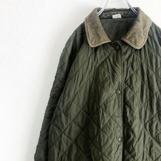 vintage 襟コーデュロイ キルティングジャケット ブルゾン コート 古着(ブルゾン)