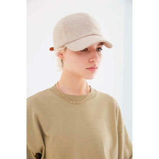 ALEXIA STAM - アリシアスタン Leather Buckle Linen Cap