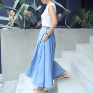 マディソンブルー(MADISONBLUE)のMADISON BLUE 別注 MI-MOLLET FLARE デニムスカート(ロングスカート)