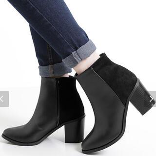 コウベレタス(神戸レタス)の神戸レタス ブーツ バイカラー ブラック Lサイズ(ブーツ)