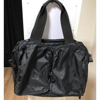 マリメッコ(marimekko)のマリメッコ ナイロン製ボストンバッグ 黒(ボストンバッグ)