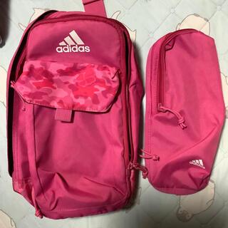 adidas - アディダス バック 小物入 ピンク