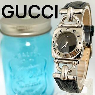 Gucci - 212 グッチ時計 レディース腕時計 ブラック アンティーク シルバー ブルー
