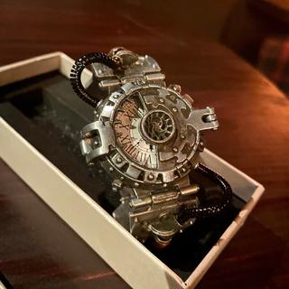 ヴィンテージ スチームパンク ギア ウォッチ 【新品】歯車 腕時計 レトロ 銅