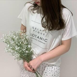 gelato pique - ジェラートピケ ボタニカルレーヨンロゴTシャツ&ロングパンツ