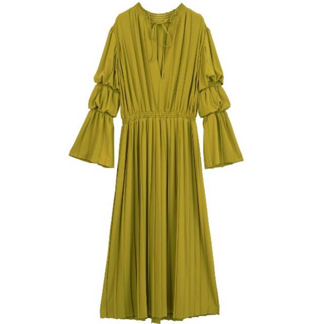 Ameri VINTAGE(アメリヴィンテージ)のAmeri vintage 2WAY PLEATS DRESS レディースのワンピース(ロングワンピース/マキシワンピース)の商品写真