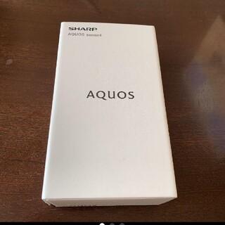 AQUOS - 新品未使用品 AQUOS sense4 ブラック SH-M15