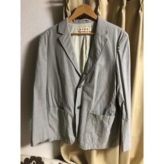 マルニ(Marni)のMARNI テーラードジャケット XXL コットン グレー 54サイズ メンズ(テーラードジャケット)