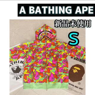 アベイシングエイプ(A BATHING APE)のa bathing ape シャーク パーカー abc flower  camo(パーカー)