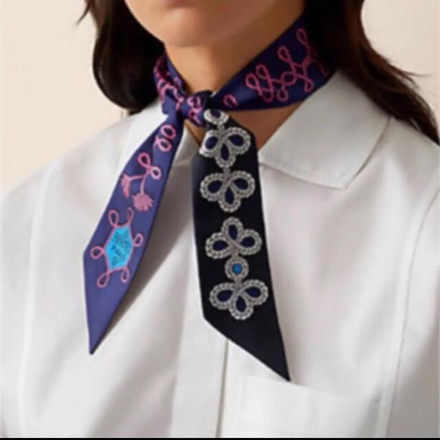 Hermes(エルメス)の《新品・未使用》エルメス ツイリー ブランデンブルク 2021 レディースのファッション小物(バンダナ/スカーフ)の商品写真