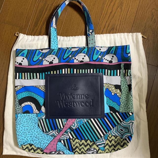 Vivienne Westwood(ヴィヴィアンウエストウッド)の【美品4万円】最終 ヴィヴィアンウエストウッド テクトニックデザイントートバッグ レディースのバッグ(トートバッグ)の商品写真
