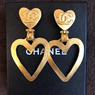 シャネル(CHANEL)のレア❤︎美品❤︎シャネル❤︎ハートイヤリング❤︎国内ブティック購入品(イヤリング)