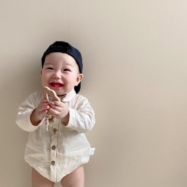 ZARA KIDS(ザラキッズ)の*韓国子供服 * 蝶ネクタイ シャツ ロンパース 長袖 男の子 ベビー 結婚式 キッズ/ベビー/マタニティのベビー服(~85cm)(ロンパース)の商品写真