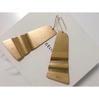 celine - CELINE セリーヌ Folded Earring ゴールドピアス フィービー