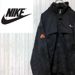 ナイキ(NIKE)のNIKE ナイキ ACG フリースジャケット 黒 ビッグロゴ ジップアップ(その他)