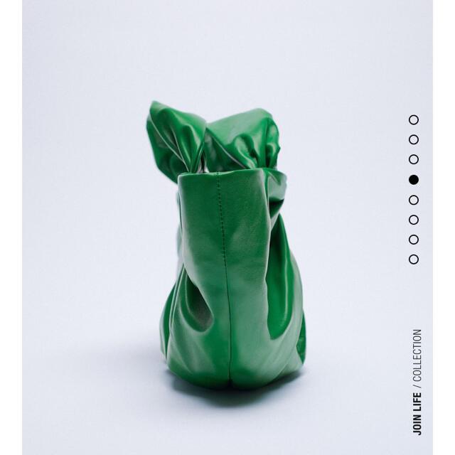 ZARA(ザラ)のZARA レザーバケットバッグ レディースのバッグ(ハンドバッグ)の商品写真