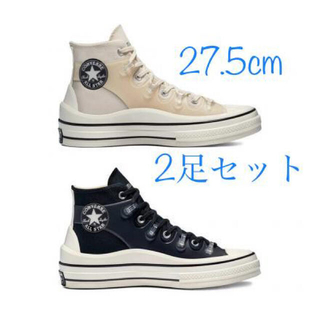 CONVERSE - 【27.5 黒白2足セット】KIM JONES × CONVERSE