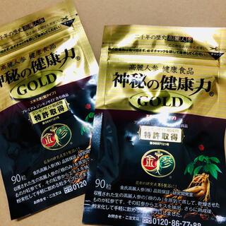 金氏高麗人参 神秘の健康力GOLD90粒入りを2袋セット