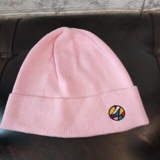 トゥエンティーフォーカラッツ(24karats)の大L 24カラッツ ニット帽 ビーニー コットン50 アクリル50 ピンク 薄手(ニット帽/ビーニー)