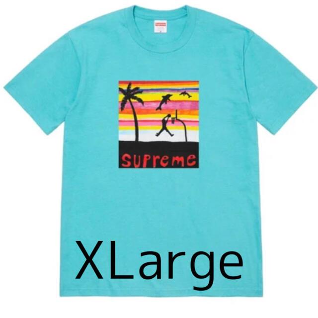 Supreme(シュプリーム)のSupreme Dunk Tee Light Teal XLarge メンズのトップス(Tシャツ/カットソー(半袖/袖なし))の商品写真