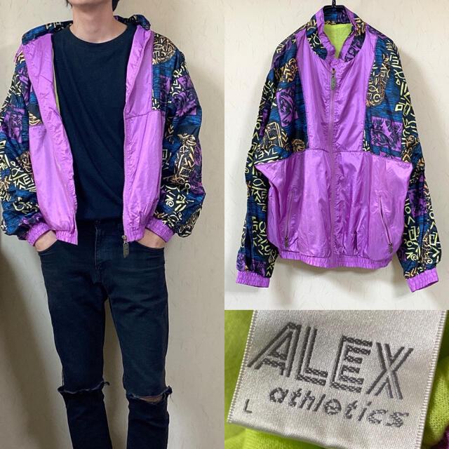 NIKE(ナイキ)の90's ナイロンジャケット  ALEX アレックス クレイジーパターン メンズのジャケット/アウター(ナイロンジャケット)の商品写真