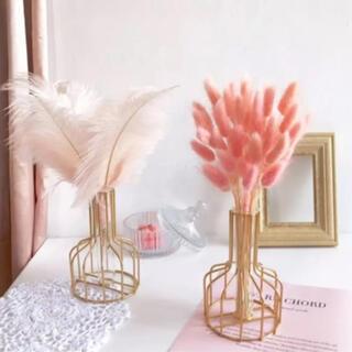 ゴールドワイヤーフラワーベース 花瓶 韓国ワイヤーフレーム  韓国(花瓶)