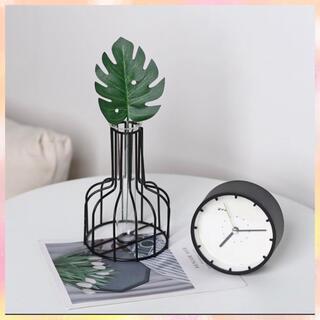 ブラック ワイヤーフラワーベース 花瓶 韓国 フレーム  韓国(花瓶)
