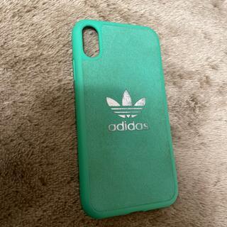 アディダス(adidas)のiPhone XRケース アディダスグリーン(iPhoneケース)