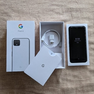 Google Pixel - Google Pixel4 64GB Clearly White ケース2つ付
