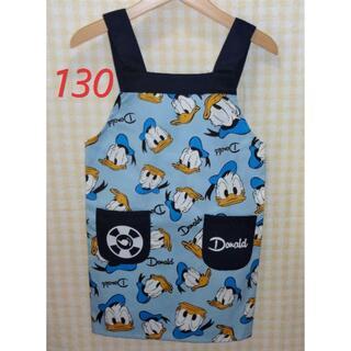 Disney - 新品 130 ディズニー ドナルドダック エプロン