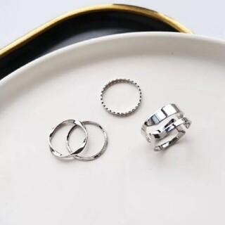 ニコアンド(niko and...)のデザインリング 指輪 シルバーリング 4点セット(リング(指輪))