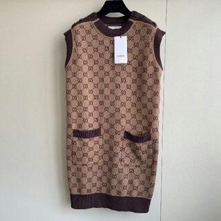 Gucci - グッチウールノースリーブドレス