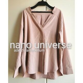 ナノユニバース(nano・universe)の【新品】nano universeVネックデザインブラウスシャツプルオーバー(シャツ/ブラウス(長袖/七分))