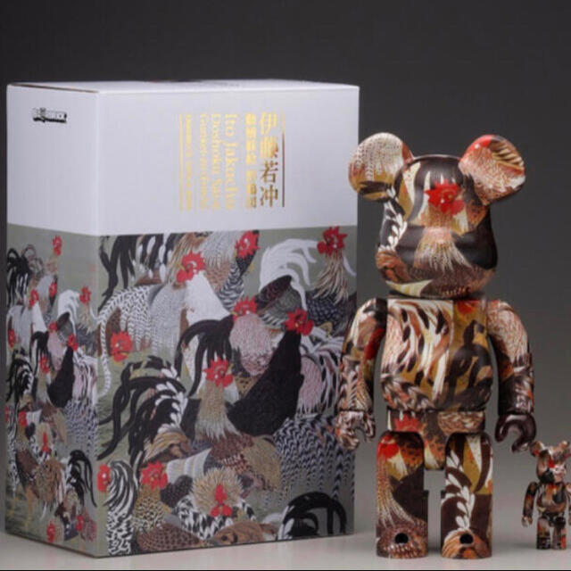 MEDICOM TOY(メディコムトイ)のBE@RBRICK 伊藤若冲「群鶏図」 100% & 400%  エンタメ/ホビーのフィギュア(その他)の商品写真