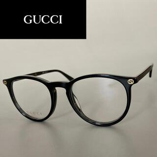 Gucci - グッチ ブラック ボストン メガネ 黒 ラウンド アセテート メンズ レディース