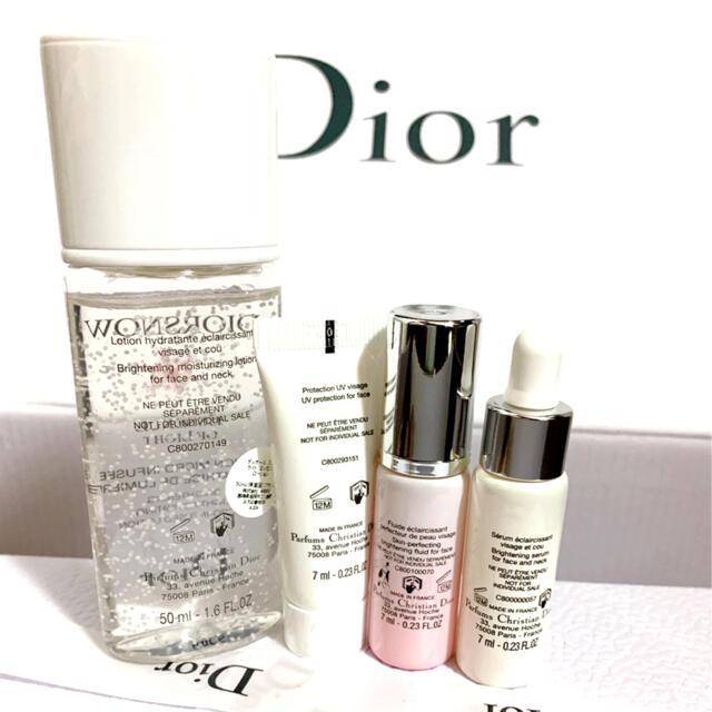 Dior(ディオール)のディオール スノー コフレ 化粧水 乳液 美容液 下地 4点 セット コスメ/美容のキット/セット(サンプル/トライアルキット)の商品写真