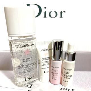 ディオール(Dior)のディオール スノー コフレ 化粧水 乳液 美容液 下地 4点 セット(サンプル/トライアルキット)