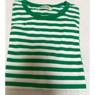 ビームスボーイ(BEAMS BOY)のビームスボーイ/緑ボーダーTシャツ(Tシャツ(半袖/袖なし))