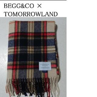 BEGG&CO × トゥモローランド のチェック柄ストール