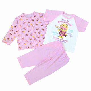 アンパンマン - 新品 95cm アンパンマン 女の子さらさら2トップパジャマ ピンク