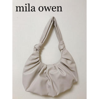 ミラオーウェン(Mila Owen)の美品❗️新品未使用【Mila Owen】ハンドバッグ アイボリー ショップ袋付き(ハンドバッグ)