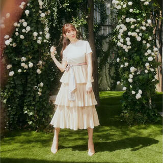herlipto Garden Party Ruffled Midi Dress