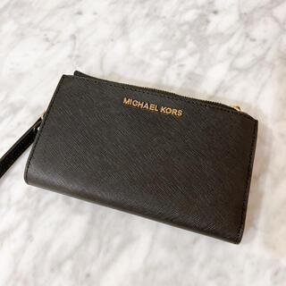 Michael Kors - 新品 MICHAEL KORS ユニセックスダブルチャック二つ折りお財布ポーチ