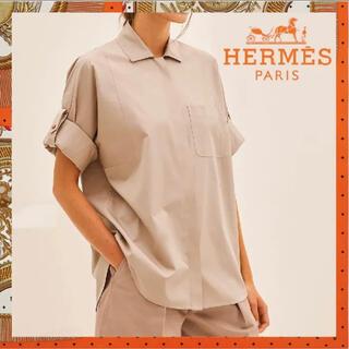 エルメス(Hermes)のHERMES エルメス シャツブラウス(シャツ/ブラウス(長袖/七分))
