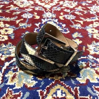 ドルチェアンドガッバーナ(DOLCE&GABBANA)のDolce&Gabbana pythonskin  patchwork belt(ベルト)