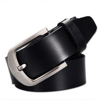 メンズ 本革ベルト レザー ビジネス ベルト シンプル カジュアル 黒