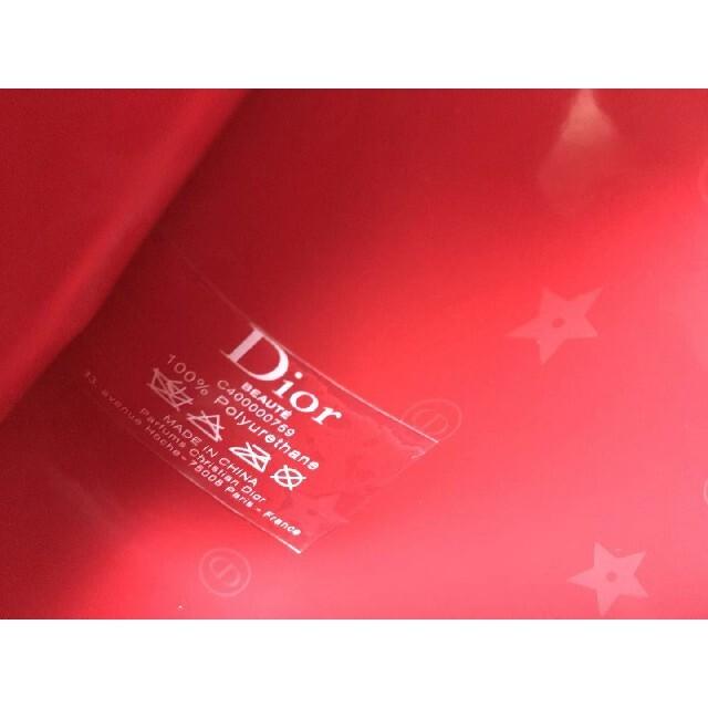 Dior(ディオール)のDIOR コスメ 化粧ポーチ レッド 未使用 レディースのファッション小物(ポーチ)の商品写真